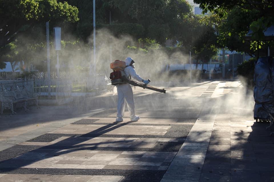 Sanitización de espacios públicos